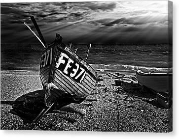 fishing boat FE371 Canvas Print by Meirion Matthias