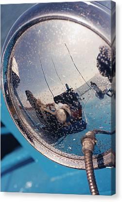 Fishing Boat Reflection Canvas Print