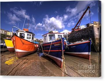 Fishing Boats At Tenby Canvas Print