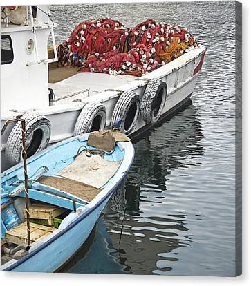 Fishing Boats Canvas Print by Glennis Siverson
