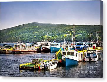 Fishing Boats In Newfoundland Canvas Print by Elena Elisseeva
