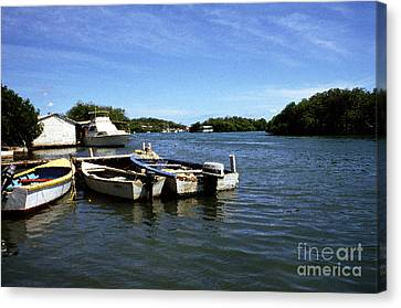 Fishing Boats Paguera Canvas Print by Thomas R Fletcher