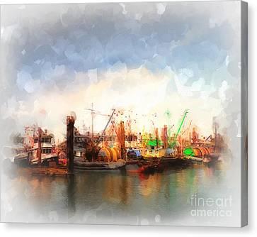 Fishing Fleet Canvas Print by Arne Hansen