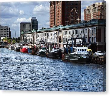 Fishing Fleet Boston Ma Canvas Print