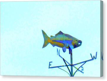 Fishing In Vane Canvas Print by Randall Weidner