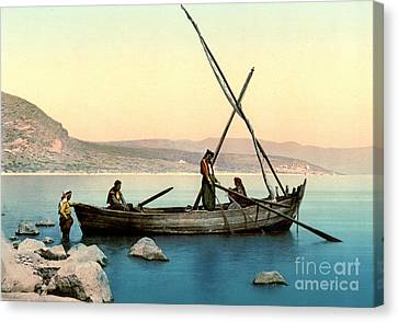 Fishing Lake Tiberias 1895 Canvas Print