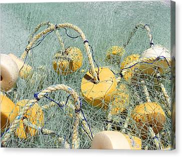 Fishing Nets And Weights Canvas Print
