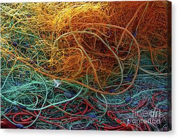 Routine Canvas Print - Fishing Nets by Carlos Caetano