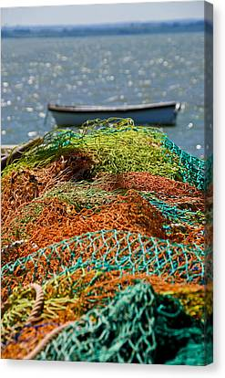 Canvas Print featuring the photograph Fishing Nets by Trevor Chriss