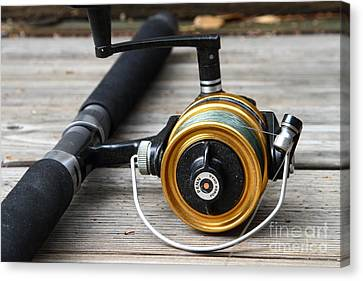 Fishing Rod And Reel . 7d13547 Canvas Print by Wingsdomain Art and Photography