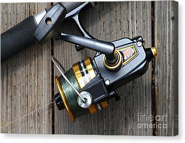 Kitschy Canvas Print - Fishing Rod And Reel . 7d13565 by Wingsdomain Art and Photography