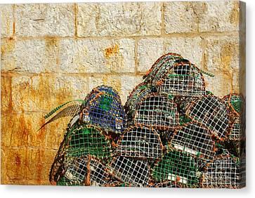 Fishing Traps Canvas Print by Carlos Caetano