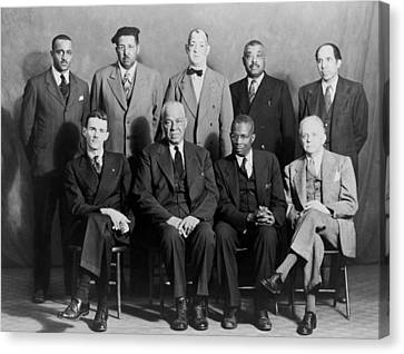 Five African American Defendants Canvas Print by Everett