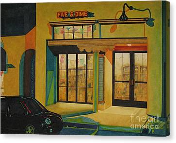Five And Dime Canvas Print by Vikki Wicks