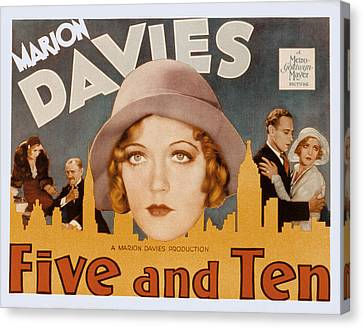 Five And Ten, Marion Davies, Richard Canvas Print by Everett