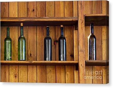 Five Bottles Canvas Print