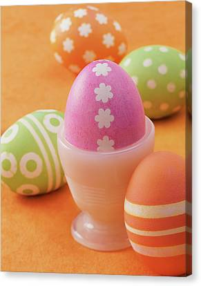 Five Easter Eggs Canvas Print