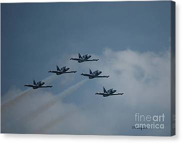 Five Man Formation Canvas Print