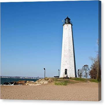 Five Mile Point Light Canvas Print by Gerald Mitchell