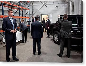 Five Secret Service Agents Guard Canvas Print by Everett
