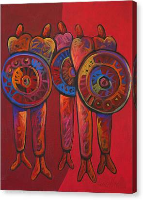 Five Tribe Canvas Print by Lance Headlee
