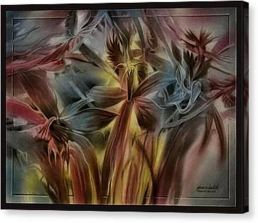 Canvas Print featuring the pastel Fivepetalscomp 2010 by Glenn Bautista