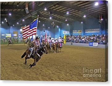 Sean Horse Canvas Print - Flag Bearer by Sean Griffin