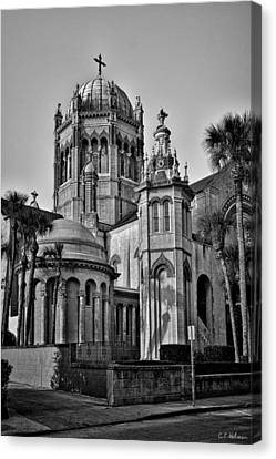 Flagler Memorial Presbyterian Church 3 - Bw Canvas Print by Christopher Holmes
