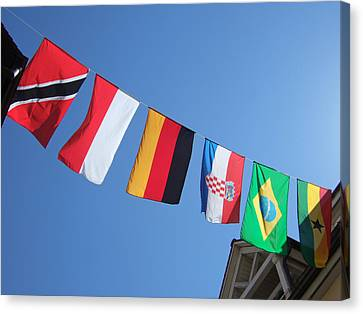 Flags Of Different Countries Canvas Print by Matthias Hauser