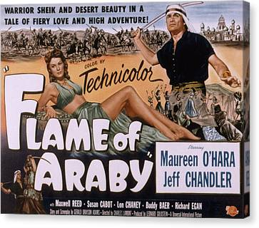 Flame Of Araby, Maureen Ohara, Jeff Canvas Print