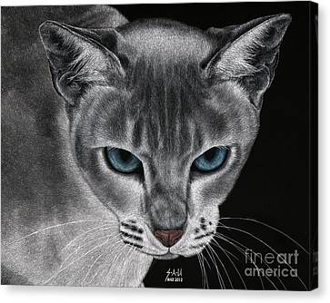 Flame Point Siemese Cat Canvas Print