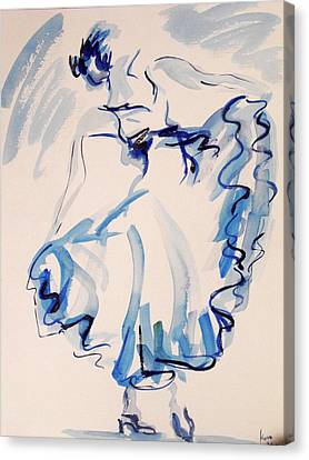 Flamenco Dancer 10 Canvas Print