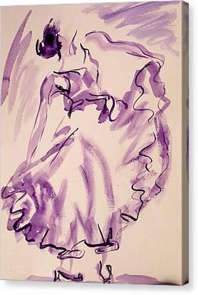 Flamenco Dancer 11 Canvas Print