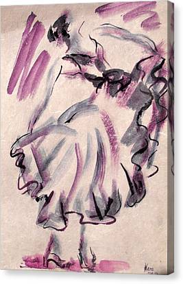 Flamenco Dancer 12 Canvas Print