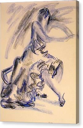 Canvas Print featuring the painting Flamenco Dancer 3 by Koro Arandia