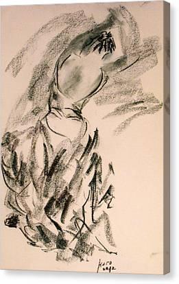 Canvas Print featuring the painting Flamenco Dancer 4 by Koro Arandia