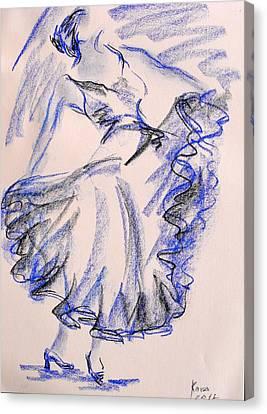 Flamenco Dancer 8 Canvas Print