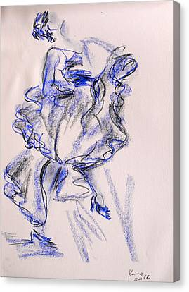 Flamenco Dancer 9 Canvas Print