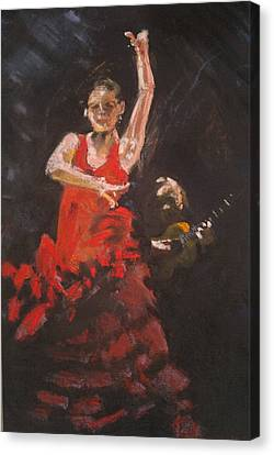 Flamenco Dancer Canvas Print by Paul Mitchell