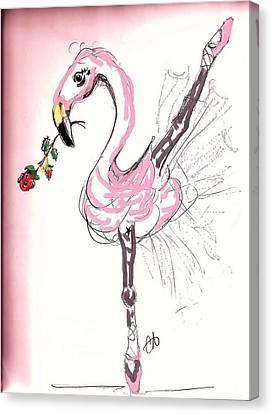 Dance Ballet Roses Canvas Print - Flamenco Flamingo by Carol Allen Anfinsen