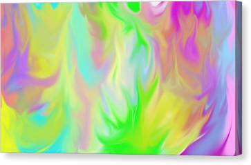 Flames Canvas Print by Rosana Ortiz