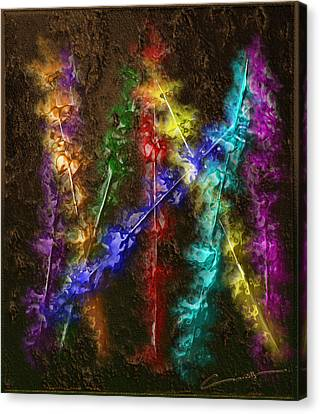 Flaming Arrows Canvas Print by Michael Hurwitz