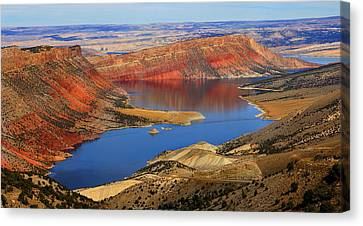 Flaming Gorge Canvas Print by Donna Duckworth