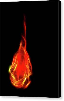 Flaming Tear Canvas Print