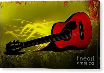 Digital Free Style Canvas Print - Flaming Wood by Lj Lambert