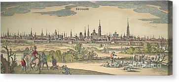 Flanders: Bruges, 1720 Canvas Print by Granger