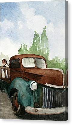 Flat Tired Canvas Print