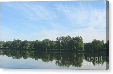 Flat Water Canvas Print by Nancy Dole McGuigan