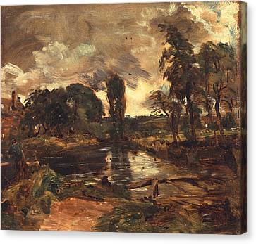 Flatford Mill From The Lock Canvas Print by John Constable