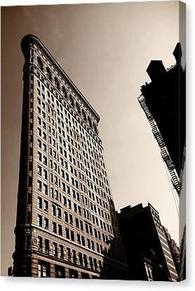 Flatiron Building - New York City Canvas Print by Vivienne Gucwa